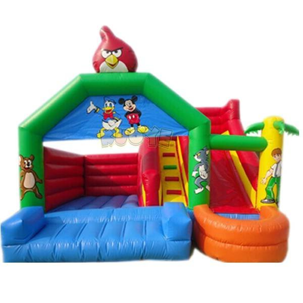 KYCB-04 Anygry Birds Inflatable Bouncer Slide