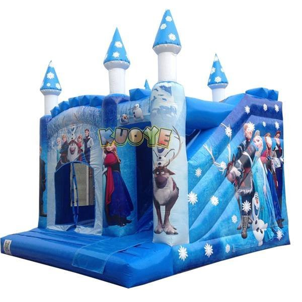 KYCB-34 Frozen Inflatable Bounce House Slide