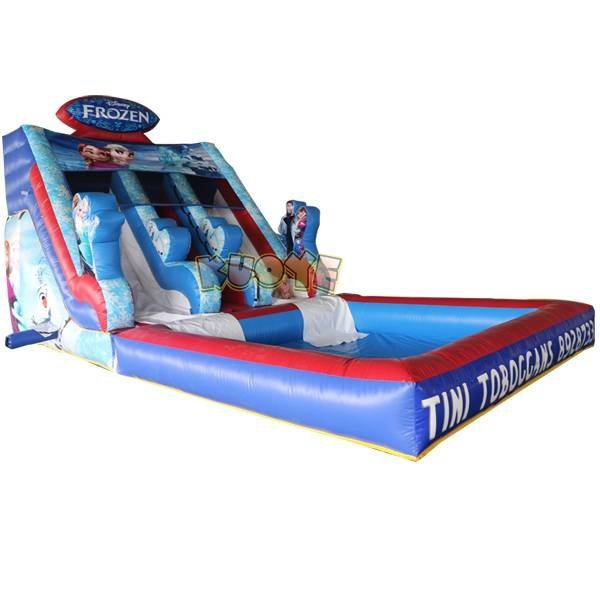 KYSS-33 Commercial Inflatable Frozen Theme Water Slide